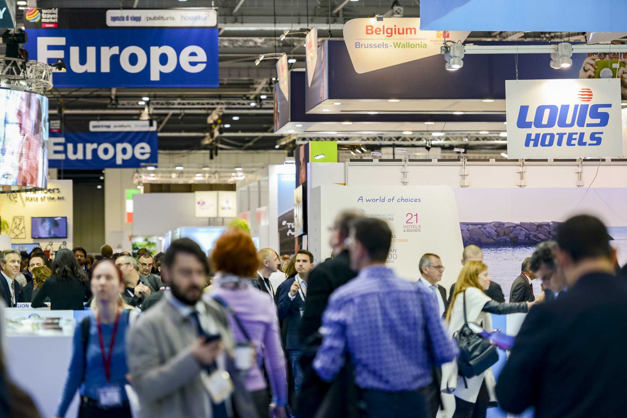 World Travel Market 2016, ExCeL London - General views photographed in the European hall